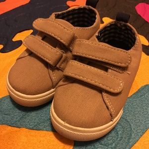 Carters Toddler boy tan canvas sneakers